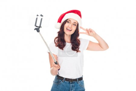 girl taking selfie on Christmas