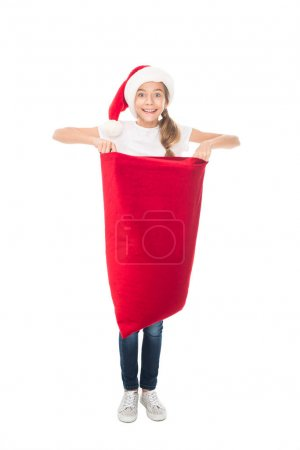 teenager with Christmas bag