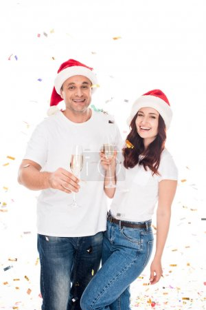 couple with with champagne glasses