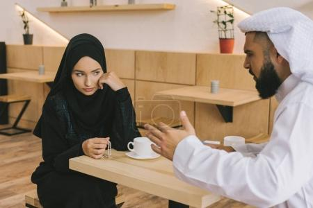 muslim couple having argument