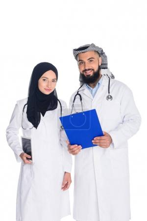happy muslim doctors