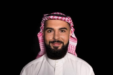 muslim man looking at camera