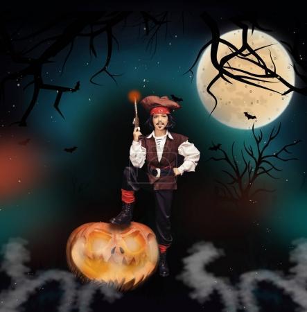 little pirate on halloween