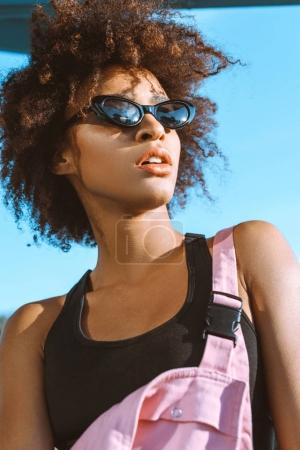 African-american woman in sunglasses
