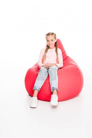 child on bean bag