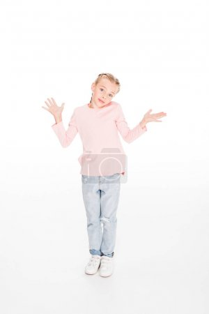 Child shrugging shoulders