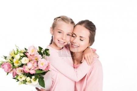 Mother and daughter on mothers day