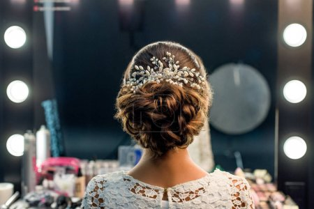 elegant hairstyle with accessory