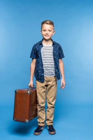 boy with suitcase