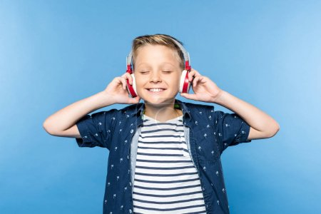 boy in headphones