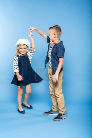 Happy kids dancing