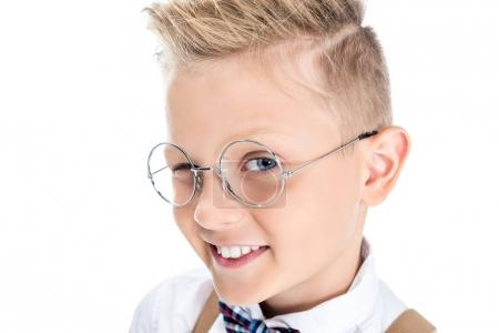 stylish child in eyeglasses