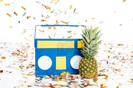 Pineapple and tape recorder