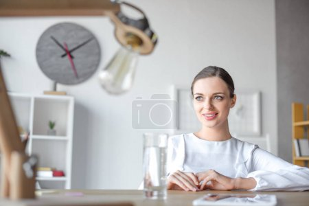businesswoman at desk in office