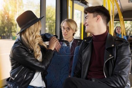 friends in public transport