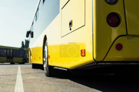 Photo for Close up view of city bus on parking - Royalty Free Image