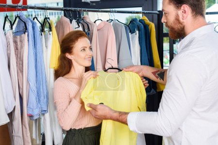 couple choosing clothes