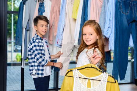 little couple on shopping