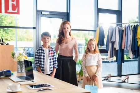 family in boutique
