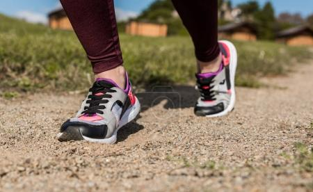 Woman in modern sneakers