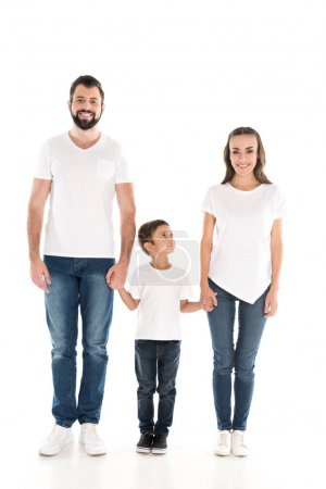 parents and son holding hands