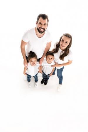 happy parents and kids