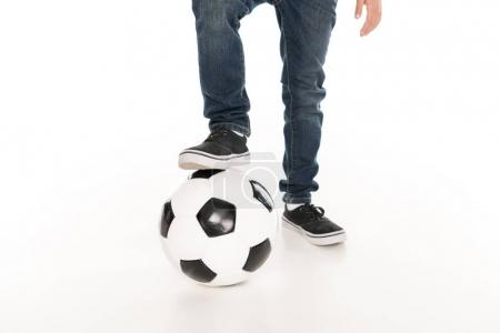 kid with soccer ball