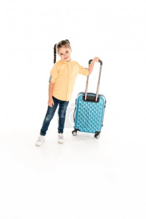 kid with suitcase ready for journey