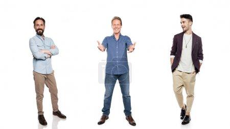 stylish smiling men
