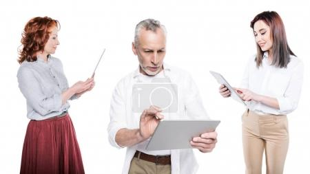 people using tablets