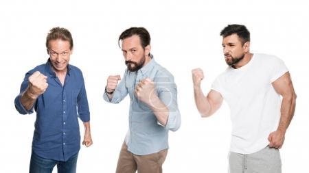 Men showing fists