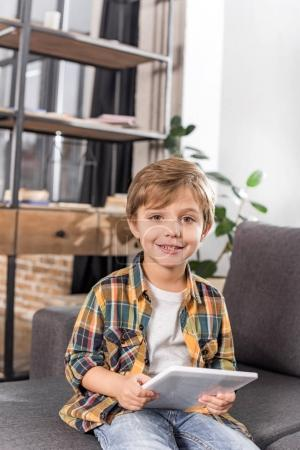 little boy with tablet