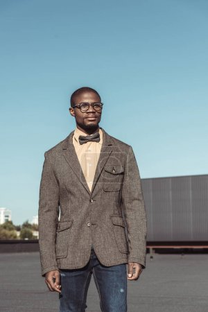Stylish african american man in suit