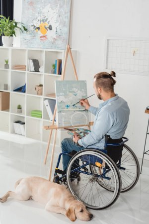 disabled man painting