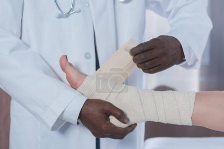 bandaging leg