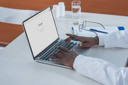 doctor searching information in Google