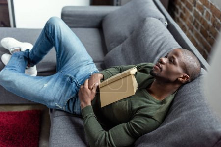 african american man with book