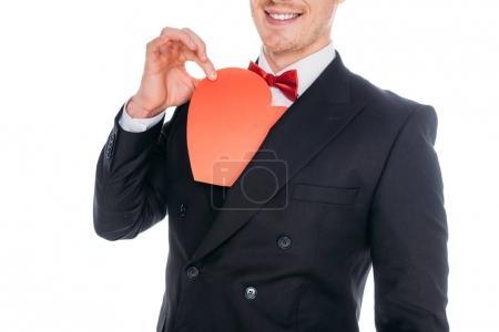 stylish man with heart symbol