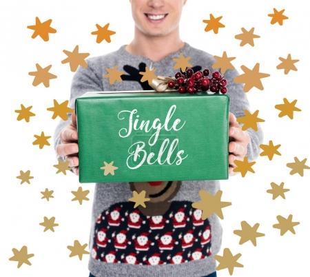 man with christmas present