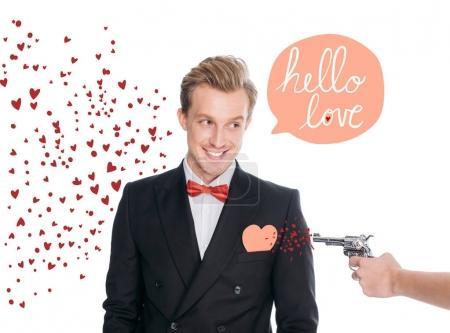 stylish man and revolver
