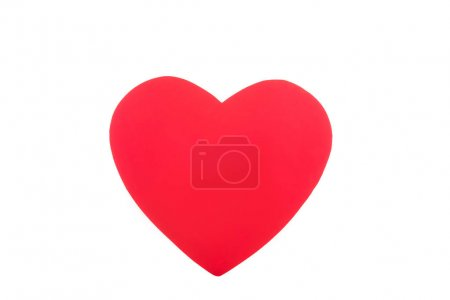 one red heart isolated on white, valentines day concept