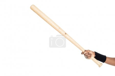 cropped shot of woman holding baseball bat