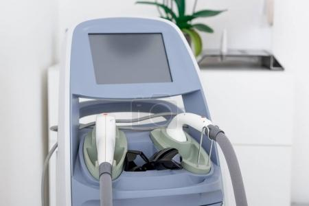 close up view of cosmetology apparatus in salon
