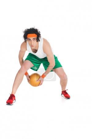 Funny basketball player