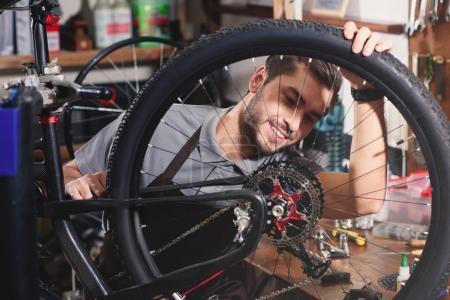 fixing bicycle