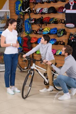 choosing bicycle