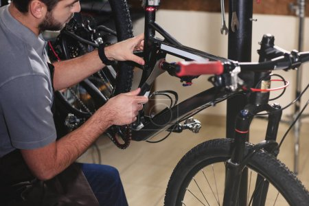 fixing bicycle