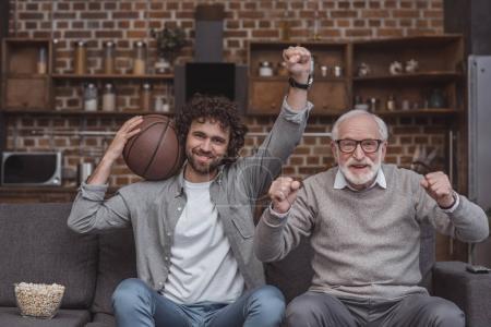 Watching basketball