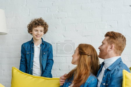 Family spending time together in cozy room