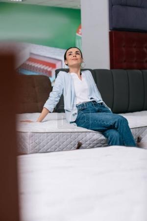 Сustomer in mattress store